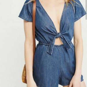 Abercrombie Chambray Romper